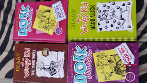 Dork Diaries books & Diary of wimpi kids- Excellent Condition