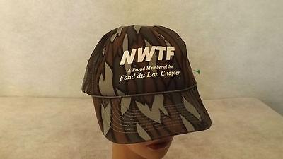 VTG NWTF National Wild Turkey Federation Snapback Hat Cap NOS Fond du Lac WI 6c62ada1d65f