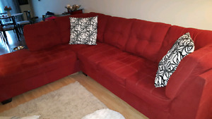 Red Ashley Sectional