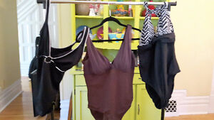 10 bathing suits+, quality, barely worn, various styles, size XL