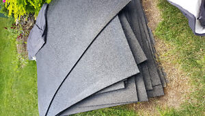 "4x6 rubber mats 1/2"" thick.  Black $700 for 17 mats  408 sqft."
