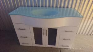 Beautiful Glass Bathroom Vanity Sink
