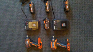 Ridgid power tools and accessories