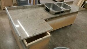 Granite Counter top and SS Sink used