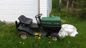 "Mid 1980's ""Turf Track"" 12hp ride on tractor/mower"