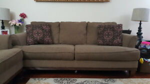 Sofa, Loveseat, and Tables