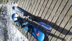 Burton board and boots and skis