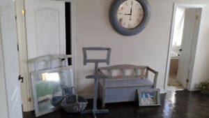 Country style solid wood furniture set (clock\ mirror was sold)