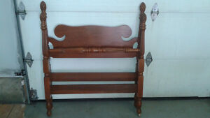 Antique head and footboard