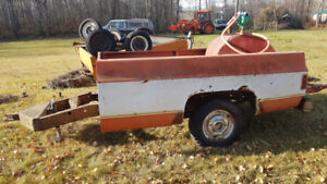 Utility trailer made from 77 Chev truck