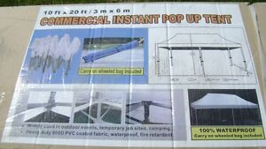 10' x 20' NEW COMMERCIAL INSTANT POP UP TENT NEVER OPENED $600