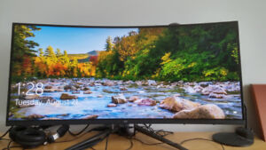 35 inch curved 3440 x 1440p 100hz amva freesync gaming monitor