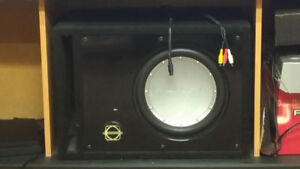 """Subwoofer with Box- 12"""" Rockford Fosgate P3D2"""