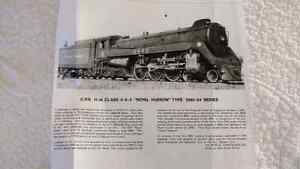 CPR 4-6-4 'BRASS' painted Royal Hudson train and tender