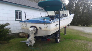 17.5 foot crest liner 120 with trailer