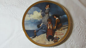Norman Rockwell 'Waiting on the Shore' Collector Plate