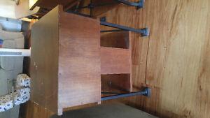 2 hardwood side tables