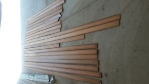 Cedar tongue and groove planks