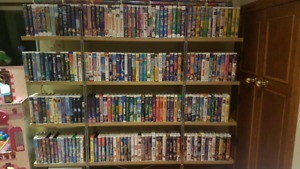 Over 1200 vhs Disney and other collection