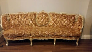 Classic French Provincial Sofa and Loveseat