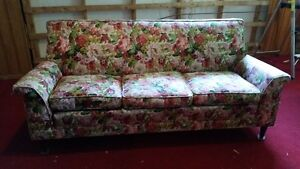 vintage 1960's couch and armchair