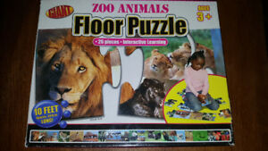 Giant floor puzzle zoo animals 26 pcs