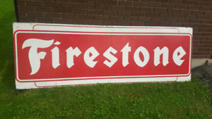 Large Firestone sign