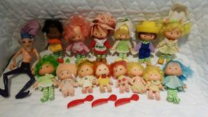 Vintage Strawberry Shortcake Dolls - Lot of 15