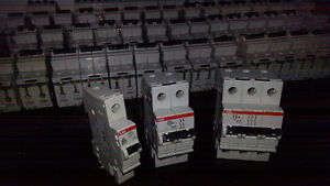 ABB S270 K Series Circuit Breakers (79 pieces, ass't amperages)