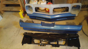 76 Firebird/Trans am fr & rr bumpers/nose panel/spoiler/brackets