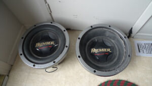 "Premier Pioneer TS-W3001D4 3000 W 12"" 4 Ohms Speakers"