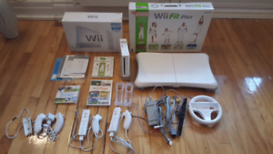 Console Wii + balance Wii fit Plus