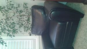 Club Chair - Black Bonded Leather Good condition