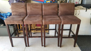 Upholstered bar stool height chairs
