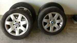BMW rims with michelin hydroedge tires (set of 4)