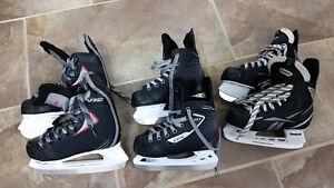 3 paires de patins à vendre