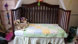 convertable crib with spring mattress Prince George British Columbia image 2