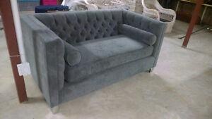 Brand New Grey Tufted Sofa