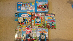 Lot of Thomas the Tank Engine books, toys, games