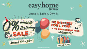 easyhome 0% Interest Birthday Sale ~ March 19th – March 23rd