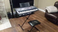 Casio Keyboard w/Stand, Case and Bench