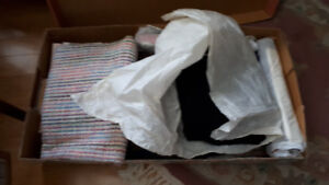 FS: Large Box of Material - Various - dress lengths - lining, et