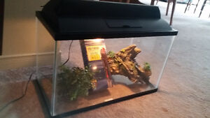 Fish Tank with light,Heater new in box and acc.