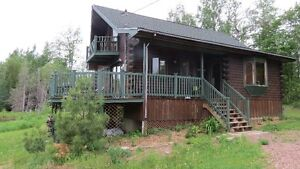 Milled Log Home in Cambridge-Narrows, NB