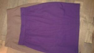 Pencil Skirts (3) brown/purple /black $10 ea/all $25