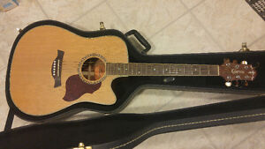 Crafter Acoustic Guitar with Electric pickup and Case FOR SALE!