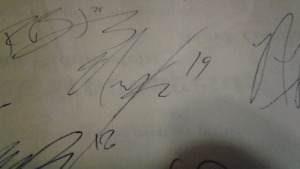 2006 Nazeem Autographed TEAM Roster