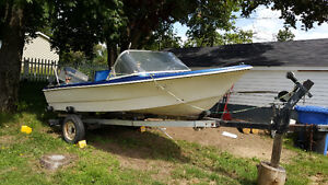 REDUCED 14 foot speed boat, 50HP...$2000 OBO