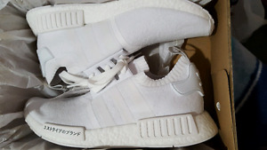 Adidas Triple White Japan Primeknit R1  NMD