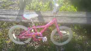 "Giant puddn girl's pink 16"" bike"